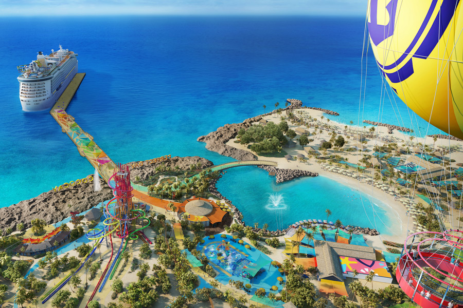 CocoCay - Blick aus dem Helium-Ballon (© Foto: Press Center Royal Caribbean International)