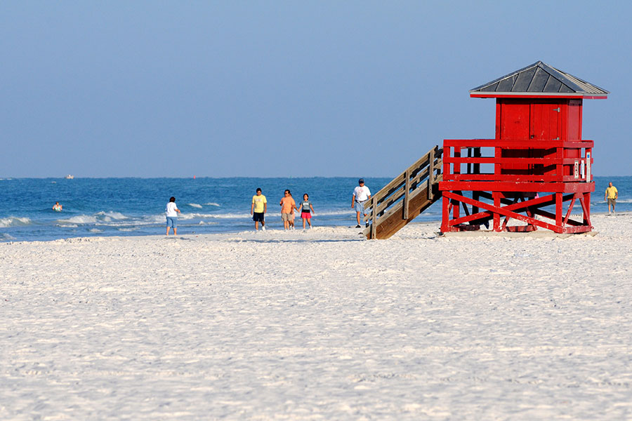 Siesta key red stand (© Foto: Sarasota and Her Islands)